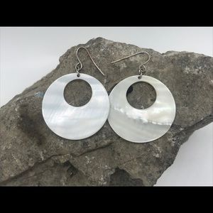 Jewelry - MOP Modern Circle Earrings